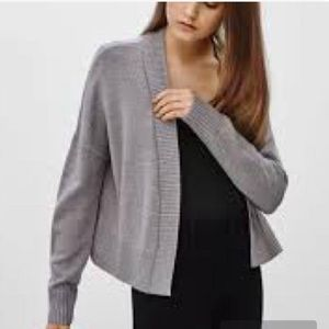 Talula Light Grey Wool Cardigan
